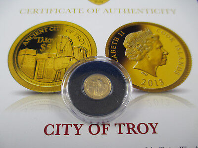 2013 City Of Troy - Macquarie Mint - The Smallest Gold Coin -