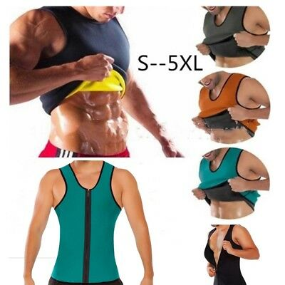 96b0c2051f Men Gym Neoprene Vest Sauna Ultra thin Sweat Shirt Body Shaper Slim Tummy  Belly