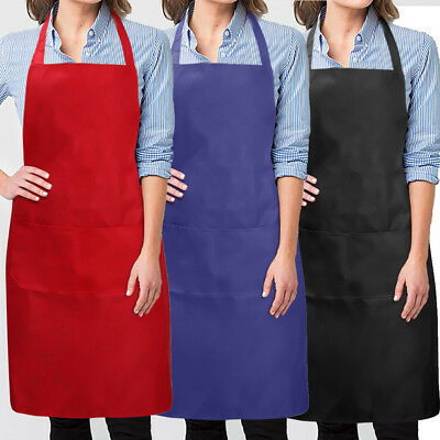 3X Wholesale Catering Plain Apron Butcher Craft Baking Chefs Kitchen Cooking BBQ