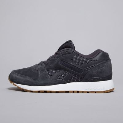 58ac39d9633fb Reebok Classic GL 6000 Premium Tech Leather & Suede Mens Trainers Shoes  BD2679