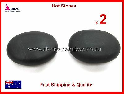 2Pc HOT STONE 320g Each NATURAL BASALT STONES FOR HOT MASSAGE Brand New