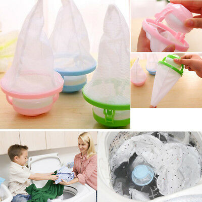 Washing Machine Filter Bag Floating Lint Hair Catcher Mesh Pouch Laundry New