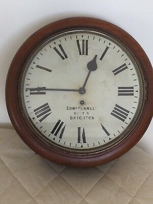 """Antique Fusee Wall Clock with 12"""" Dial. Please Read Description Carefully."""