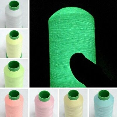 1000 Yards Spool Luminous Glow In The Dark Machine Embroidery Sewing Thread Home