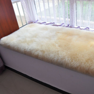Real Genuine Australian Splice Fur Large Sheepskin Rug Bedroom Bay Window Carpet
