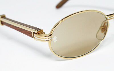 41496df2681 Nos Rare Vintage Sunglasses Cartier Sully Gold Round Giverny Oval Mint Man  Jpg