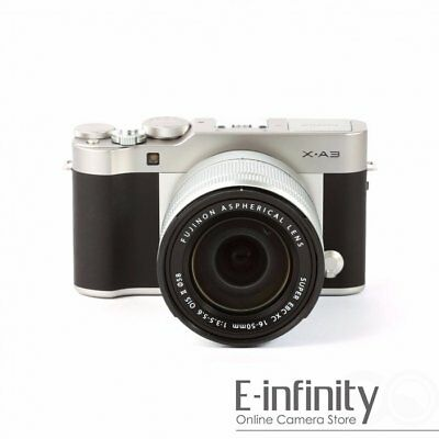 NEW Fujifilm X-A3 Mirrorless Digital Camera with 16-50mm Lens (Silver)