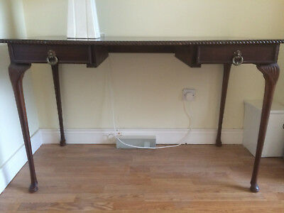 Mahogany Desk or Table, period Queen Anne style. Perfect condition.