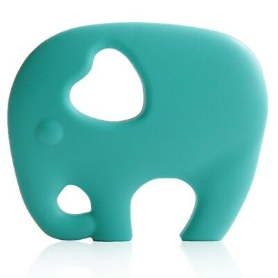 Brand new BPA & phthalate Free, Turquoise Silicone Elephant Shape Baby Teether