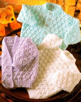 Baby Toddler Knitting Pattern  copy DK Baby Cardigans & Jumpers