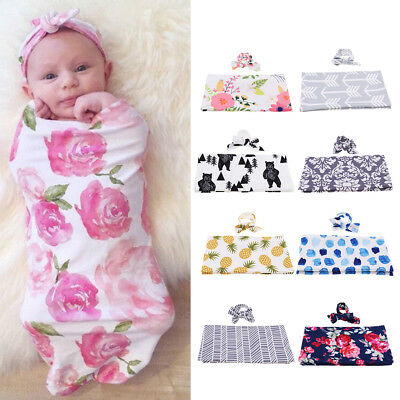 Newborn Baby Photo Props Cotton Swaddle Wrap Blanket Sleeping Bag