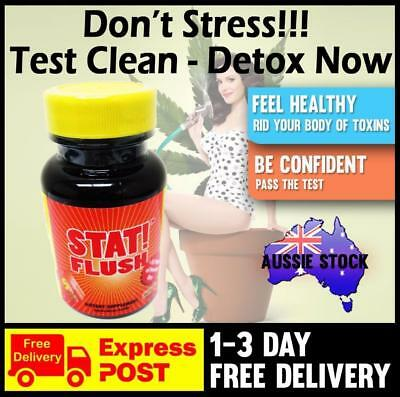 Stat Flush Rapid Detox Capsules Pills Clear Toxins Urine Cleansing Program Test