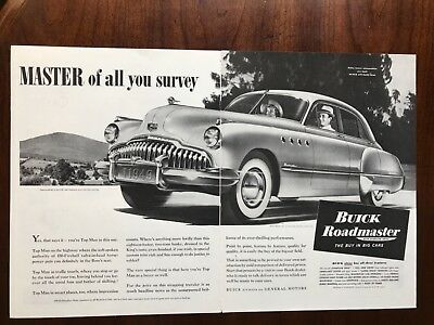 E 1949 Buick Roadmaster with Dynaflow Drive Car Ad