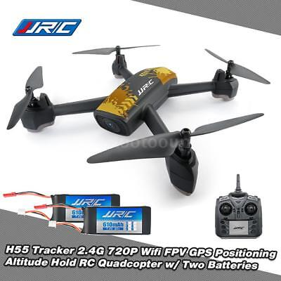 JJRC H55 2.4G 720P Camera Wifi FPV GPS Positioning RC Drone w/ 2 Batteries Y7C5