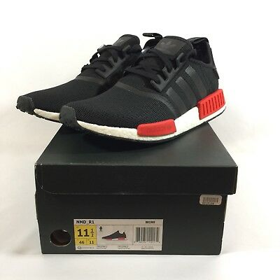 ADIDAS NMD R1 Bred (Black, Red, White) BB1969 Men's Size 11.5 DS NIB