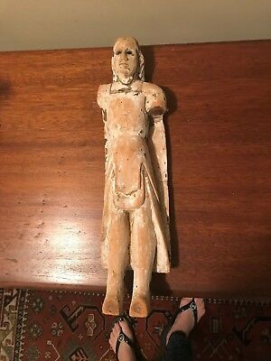 Antique Early 19Th Century Hand Carved Wood Santos From S. America