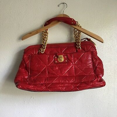 2290d33e65d MARC JACOBS QUILTED Red Leather Handbag Made In Italy - $450.00 ...