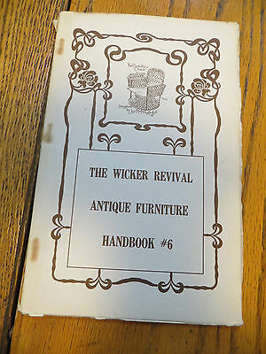 The Wicker Revival Antique Furniture Handbook #6 Century House 1966 Illustrated