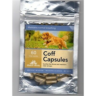 Global Herbs Coff Capsules For Large Dogs x 120 Pack - Cat Supplements Airways