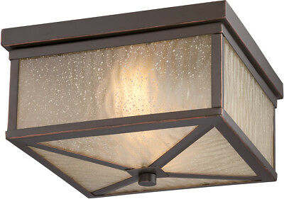 Nuvo Lighting 62/663 Haven LED 21 inch Mahogany Bronze Outdoor Flush Mount