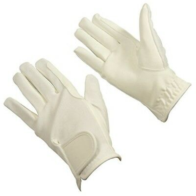 Bitz Horse Rider Bitz Synthetic Gloves Child White Small Horse Riding Wear -