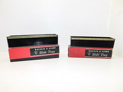 Set of 2 Bausch & Lomb 40 Slide Tray - for 2 x 2 35mm Slide Projector