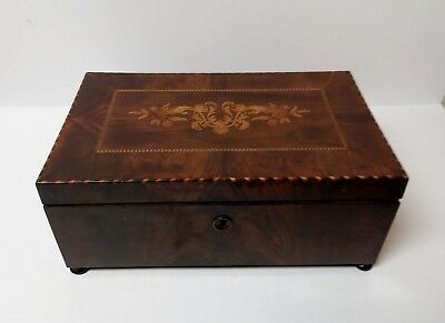 19th Century English Inlaid Sewing Box, 1870-1880