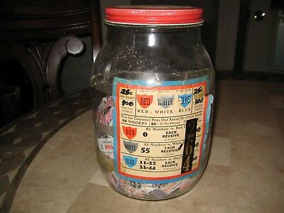 Vintage 1943 WWII era JAR-O-DO Gambling Pull Tabs Trade Stimulators Penrose Jar
