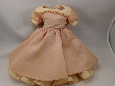 "VNTG 1950s Madame Alexander Peach Dress w/ Slip & panty, fits 14"" Doll, tagged"