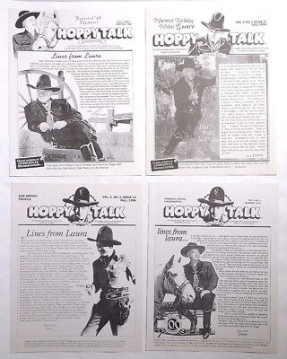 P020 Lot of 4: HOPPY TALK Fan Magazine Hopalong Cassidy Laura Bates Vol 4, 6, 7