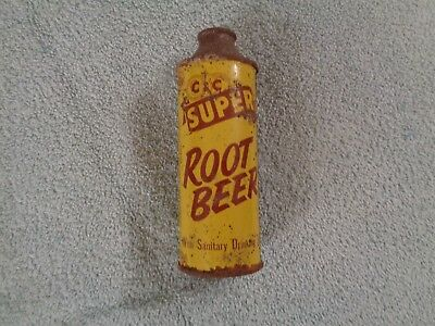 Very Rare C & C ROOTBEER,CAN Cola can. Tall soda can,