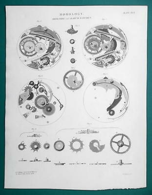 HOROLOGY Clocks Repeating & Alarm Watches - 1815 Antique Print by A. REES