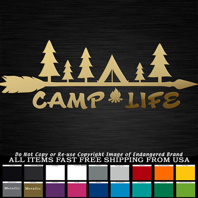 """15/"""" Support Naked Camping Decal RV Tent Camp Trailer Boat Funny Country 4x4 Girl"""