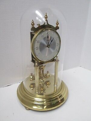 Vintage Kundo Anniversary Clock 400 Day clock - Glass Dome - West Germany