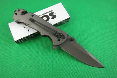 Rainbow Practice BALISONG METAL BUTTERFLY Steel Trainer Dull Knife Tool ch