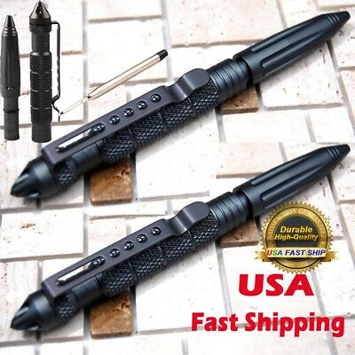 "USA 2*6""Aluminum Tactical Pen Glass Breaker Gray Writing Survival Outdoor"
