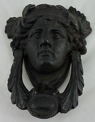 Vintage Door Knocker Figural Head Greek Roman God Goddess Cast Iron or Brass