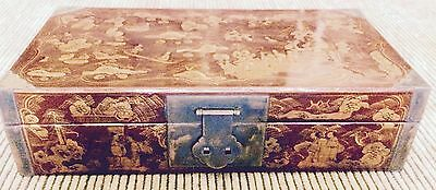 Antique Shanxi Handpainted Tuiguang Lacquer Boxes (8126B), Circa 1850-1899