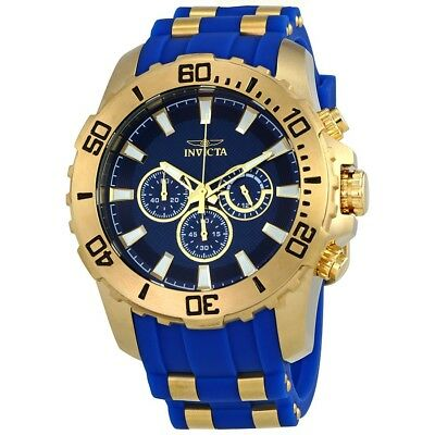 Invicta Men's Pro Diver 22556 Blue Silicon, Stainless Steel Chronograph Watch