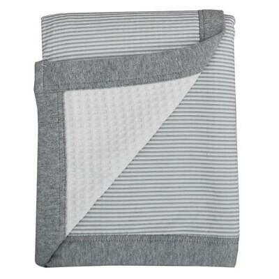Living Textiles Cot Waffle Blanket (Grey stripe) Free Shipping!