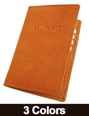 WORLD PASSPORT COWHIDE SOLID LEATHER COVER Travel 8+ Card Case Men Wallet New