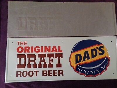 """Vintage DADS ROOTBEER SODA SIGN,GORGEOUS,""""The original draft rootbeer"""" Beautiful"""
