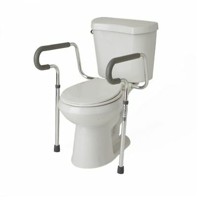 NIB- Toilet Safety Rails- by Medline- adjustable foam armrests- aluminum frame