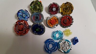 Lot of 9 Beyblade with Case No Launchers
