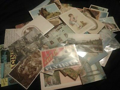 LOT of 84 VINTAGE POSTCARDS U.S. & FOREIGN *1911-1959*MUST SEE*