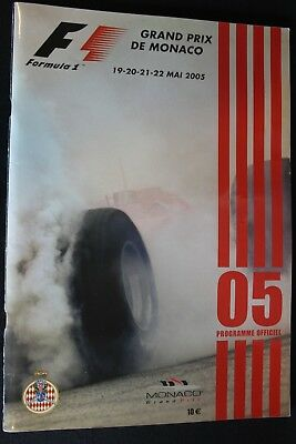 Program 2005 Monaco Grand Prix Formula 1 with 2 signatures (NA)