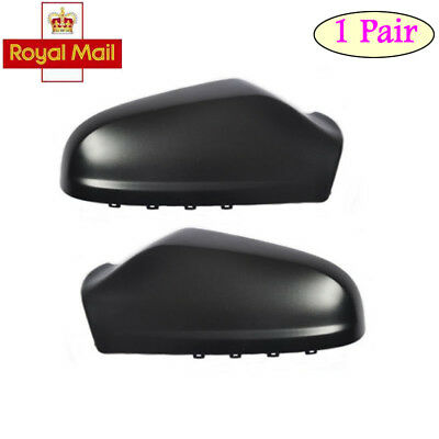Pair O/S & N/S Wing Door Mirror Black Cover Case For VAUXHALL ASTRA H 2004-2009