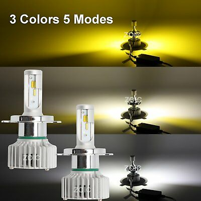 H4/HB2/9003 Adjustable White/ Yellow LED Car Headlights Hi/Low Driving Lights OZ