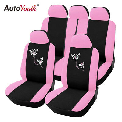 Car Seat Covers For Women Airbag Butterfly Embroidery Car Accessories Interior