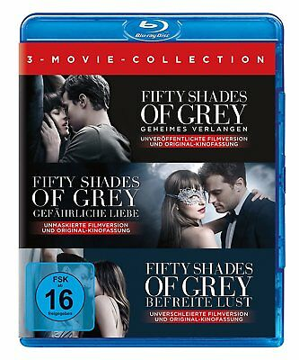 3 Blu-rays * FIFTY SHADES OF GREY 1 2 3 - 3 MOVIE COLLECTION # NEU OVP +
